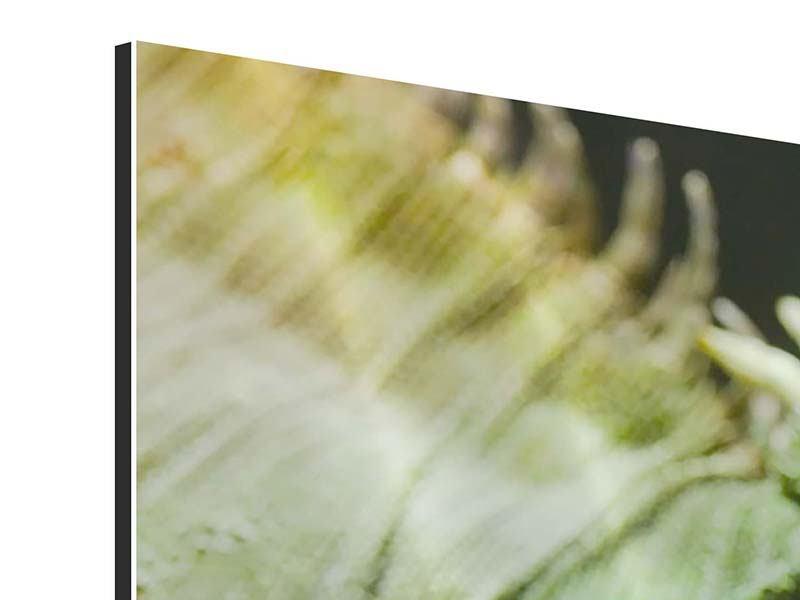 Aluminiumbild 3-teilig XXL Leguan