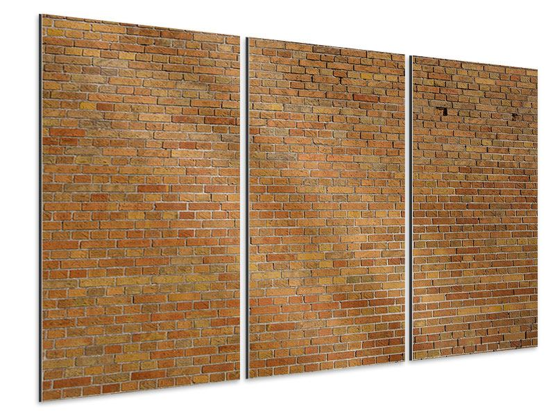 Aluminiumbild 3-teilig Backsteinhintergrund
