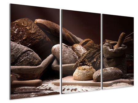 Aluminiumbild 3-teilig Brotbäckerei