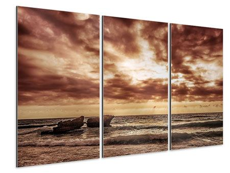 Aluminiumbild 3-teilig Meeresrauschen