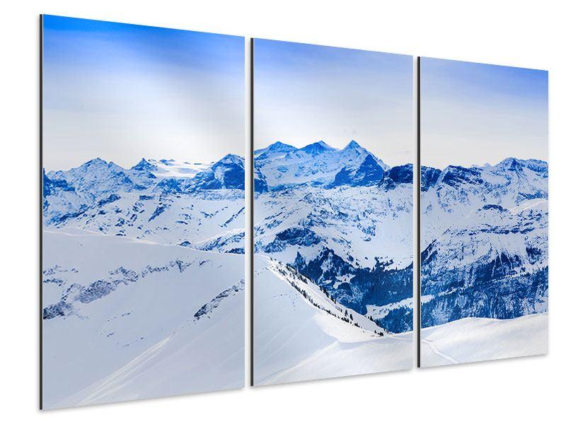 Aluminiumbild 3-teilig Die Schweizer Alpen