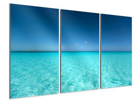 Aluminiumbild 3-teilig Das Meer und Jules Verne