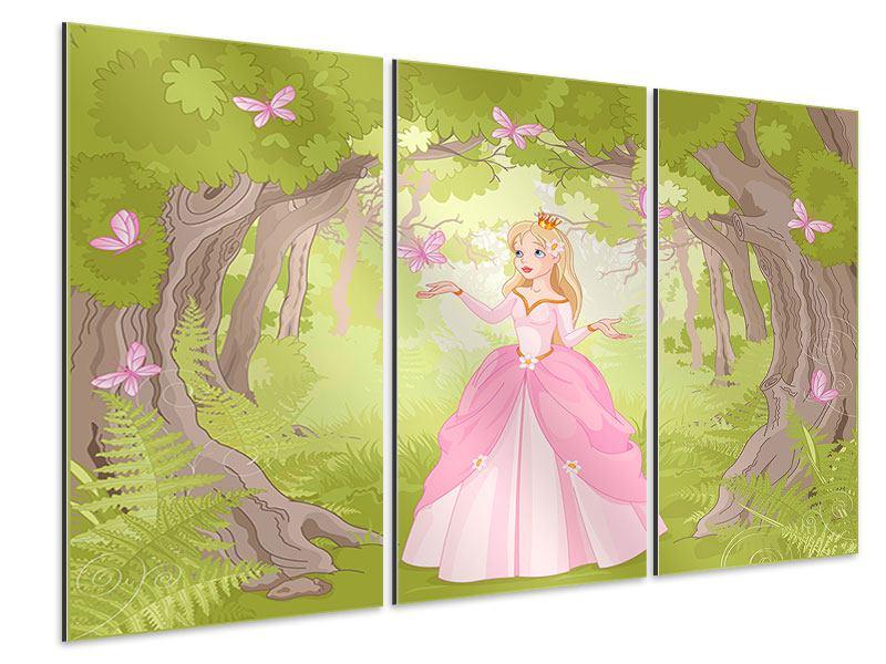 Aluminiumbild 3-teilig Princess