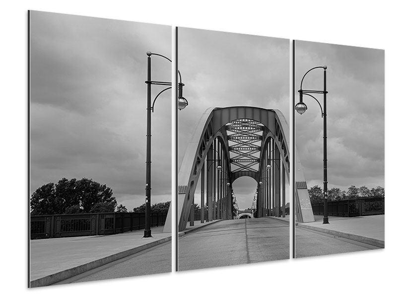 Aluminiumbild 3-teilig Poetische Brücke
