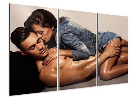 Aluminiumbild 3-teilig Love Is In The Air