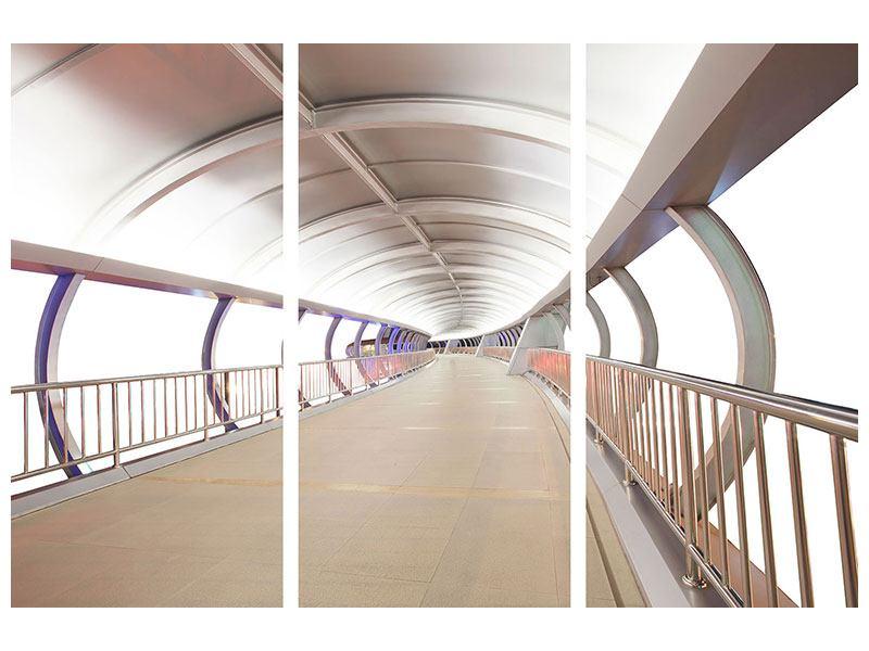 Aluminiumbild 3-teilig Brückenfeeling