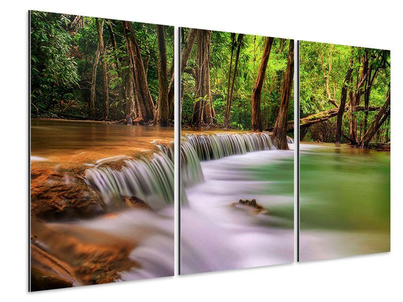 Aluminiumbild 3-teilig Deep Forest