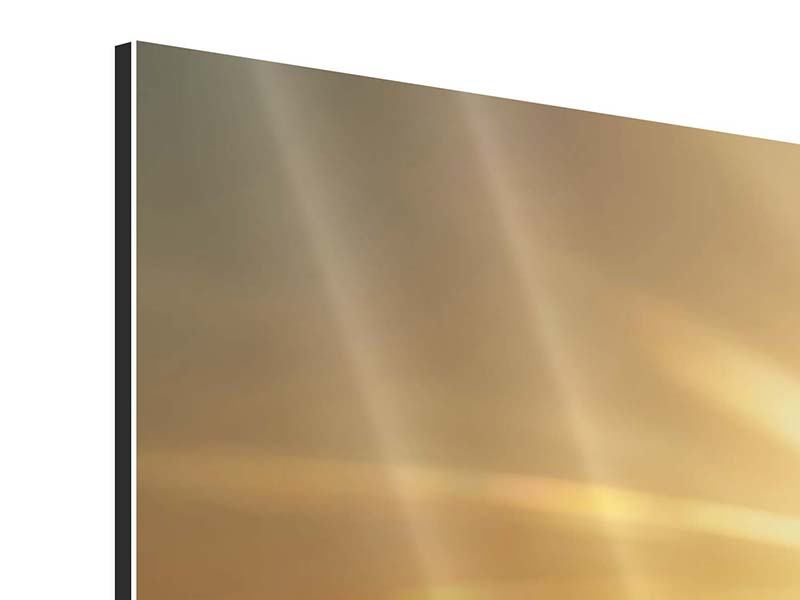 Aluminiumbild 3-teilig Über dem Wolkenmeer