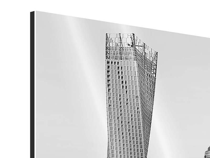 Aluminiumbild 3-teilig Majestätische Wolkenkratzer in Dubai
