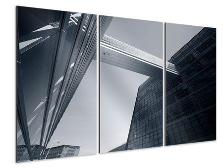 Aluminiumbild 3-teilig Der schwarze Diamant Kopenhagens