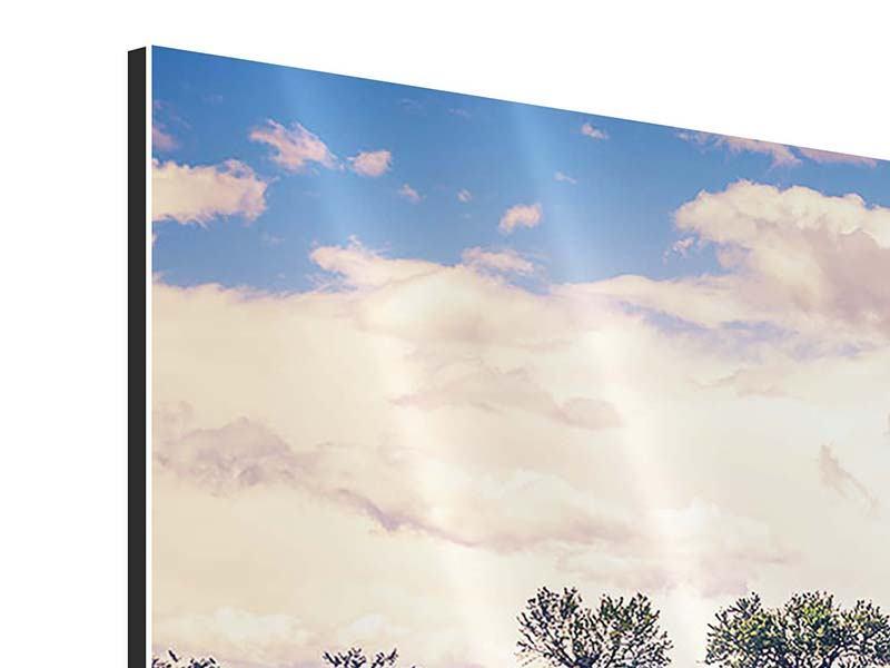 Aluminiumbild 3-teilig Das Lavendelfeld