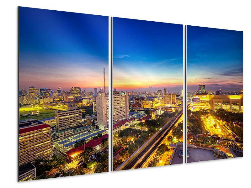 Aluminiumbild 3-teilig Bangkok