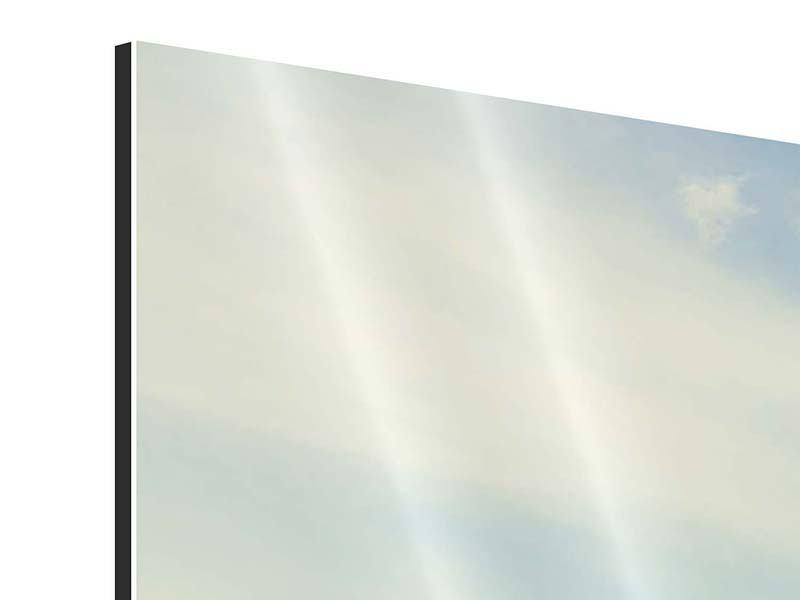 Aluminiumbild 3-teilig Bergromantik