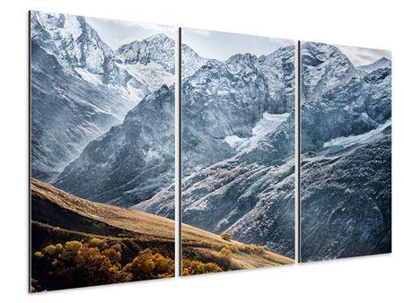 Aluminiumbild 3-teilig Gigantische Berggipfel