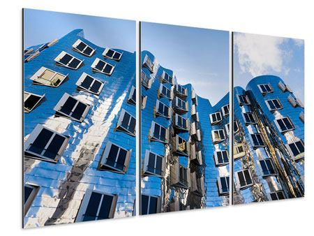 Aluminiumbild 3-teilig Neuer Zollhof