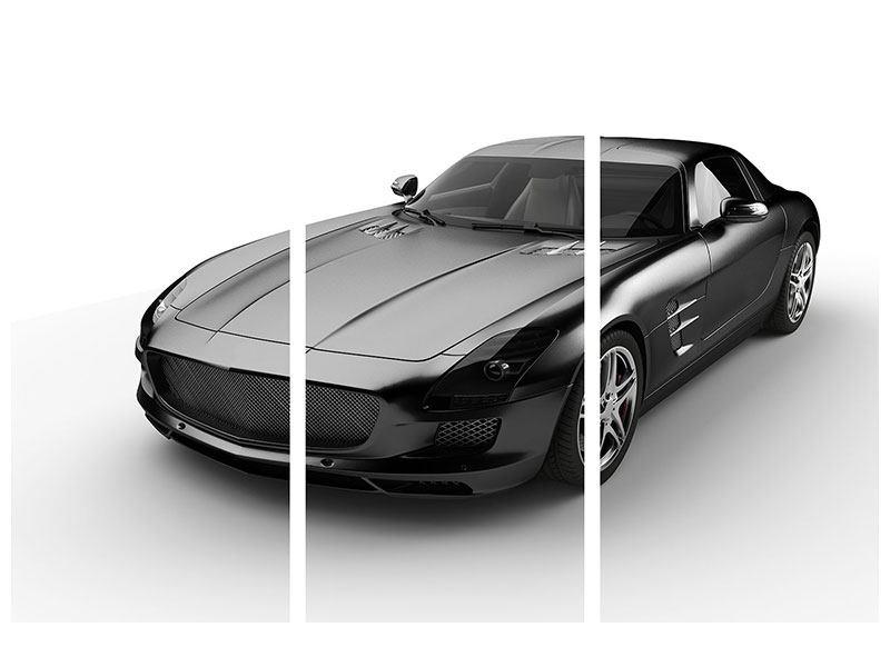 Aluminiumbild 3-teilig 007 Auto