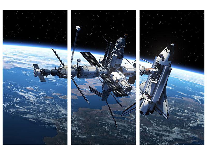 Aluminiumbild 3-teilig Satellit