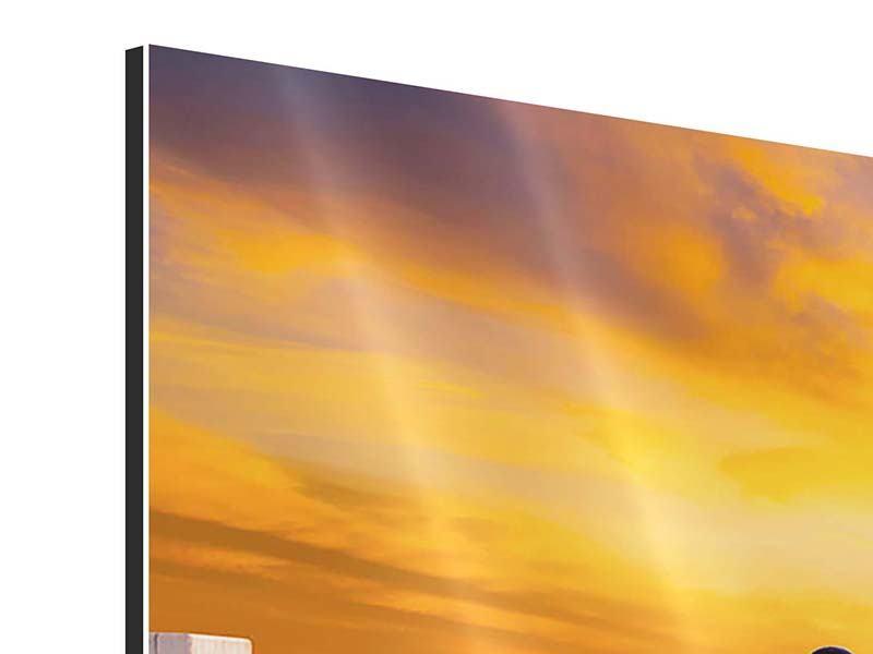 Aluminiumbild 3-teilig Die Brücke Ins Glück