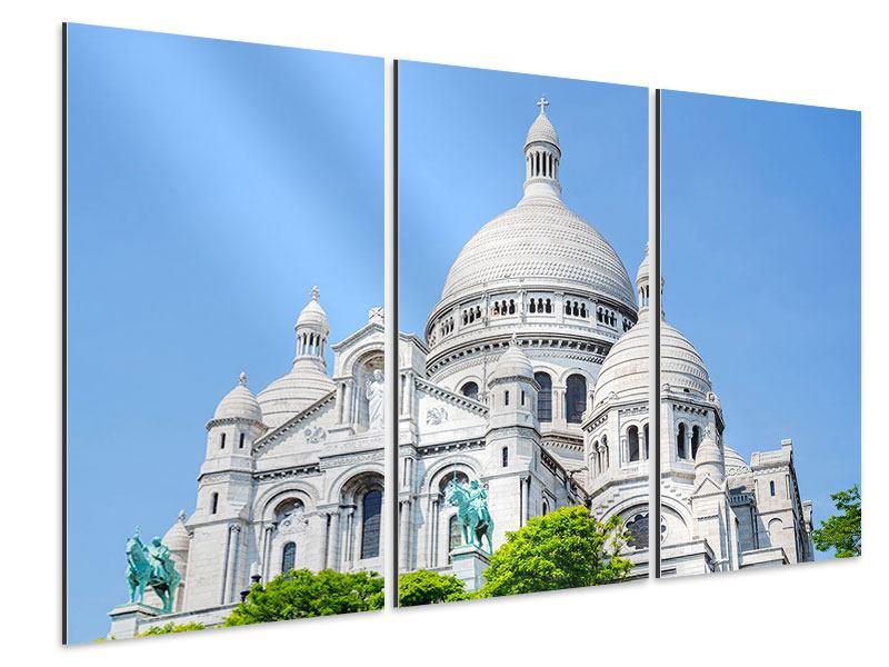Aluminiumbild 3-teilig Paris- Montmartre