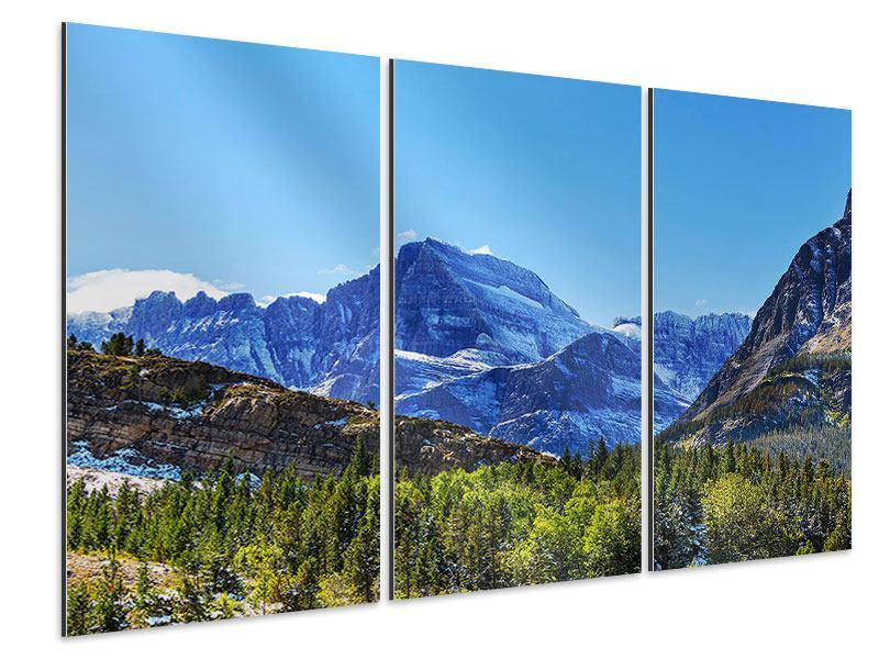 Aluminiumbild 3-teilig Dem Gipfel entgegen