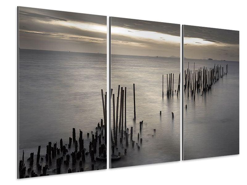 Aluminiumbild 3-teilig Das Meer und die Träne