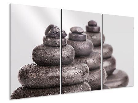Aluminiumbild 3-teilig Die Kraft der Steine