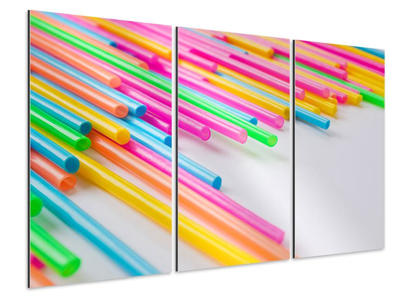 Aluminiumbild 3-teilig Pop Art