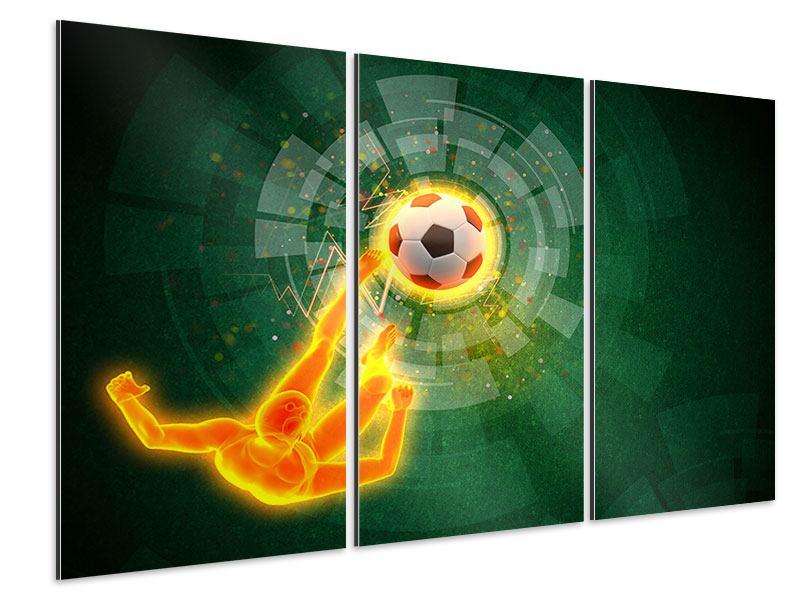 Aluminiumbild 3-teilig Der Kicker