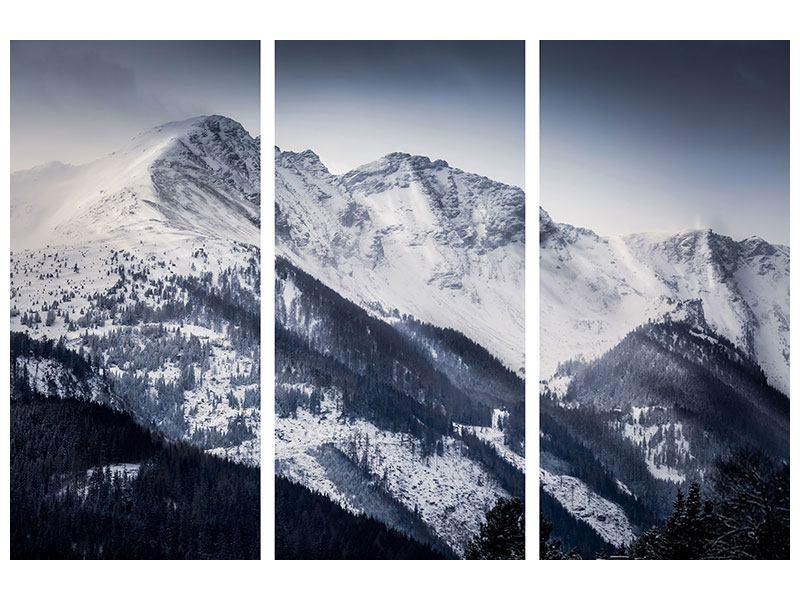 Aluminiumbild 3-teilig Die Berge der Schweiz