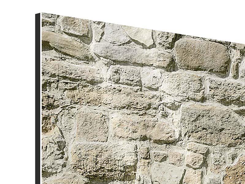 Aluminiumbild 3-teilig Naturmauer
