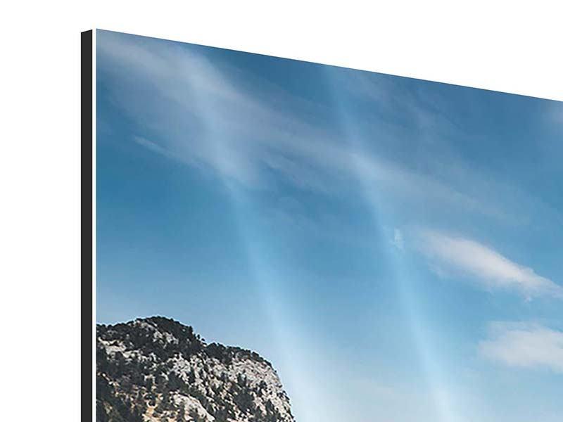 Aluminiumbild 3-teilig Der idyllische Bergsee