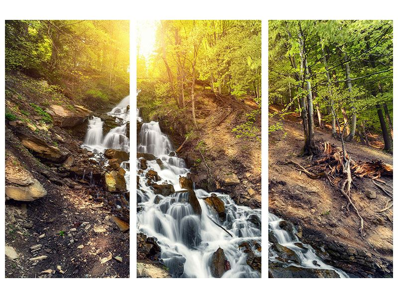 Aluminiumbild 3-teilig Naturschönheit