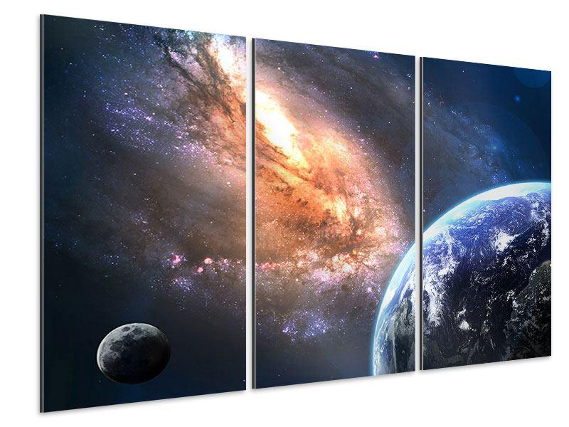 Aluminiumbild 3-teilig Universus