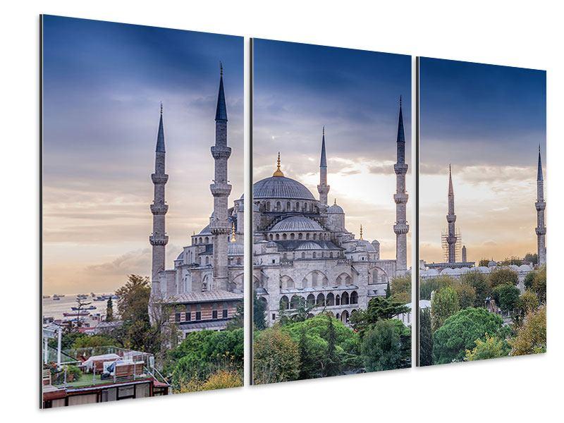Aluminiumbild 3-teilig Istanbul