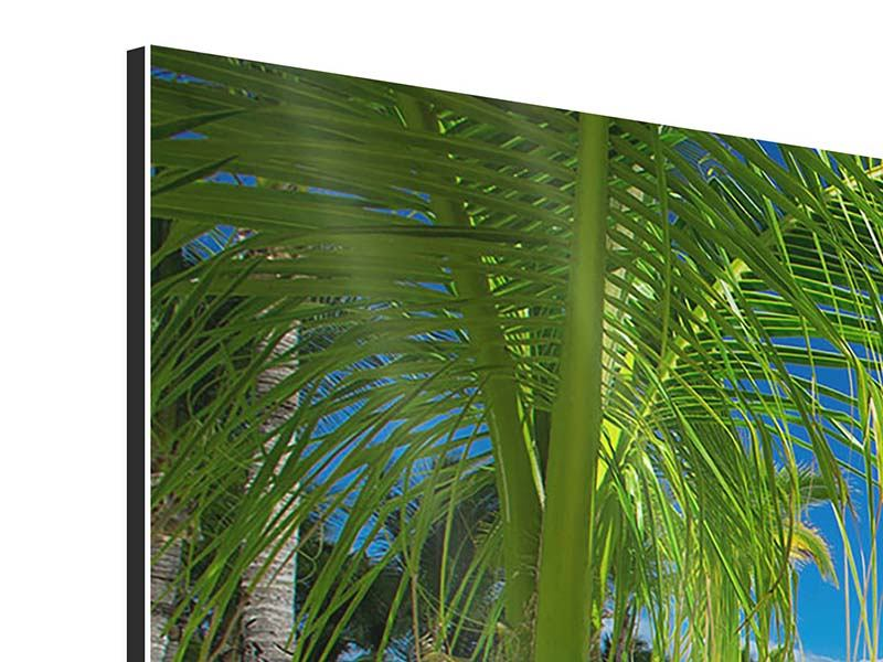 Aluminiumbild 3-teilig Club Paradies