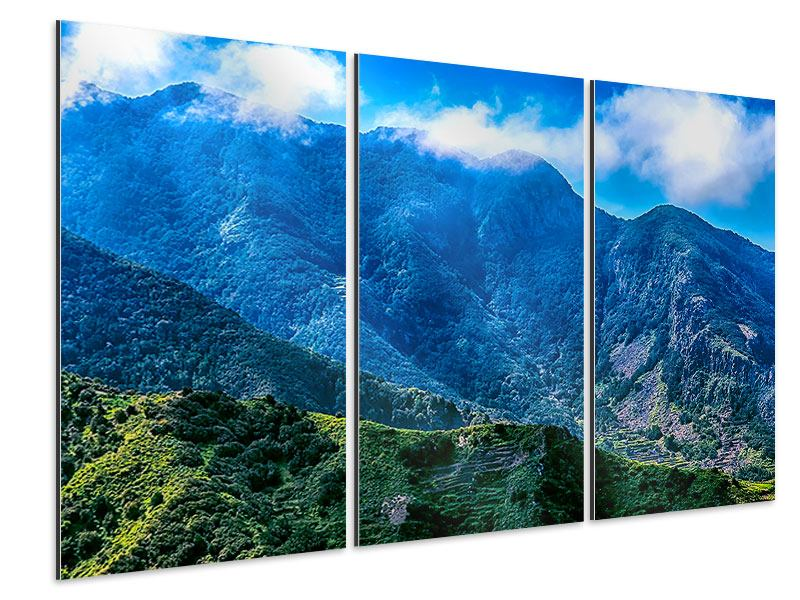 Aluminiumbild 3-teilig Die Berglandschaft