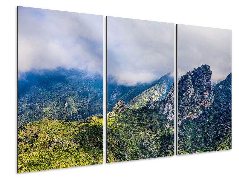 Aluminiumbild 3-teilig Der stille Berg