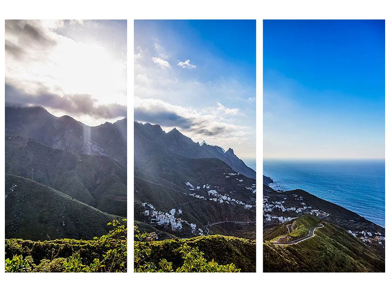 3 Piece Aluminium Print Spring In The Mountains