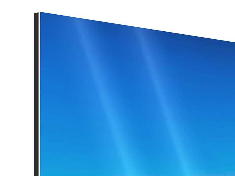 Aluminiumbild 3-teilig Berge am Meer