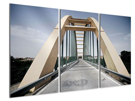 Aluminiumbild 3-teilig Imposante Hängebrücke