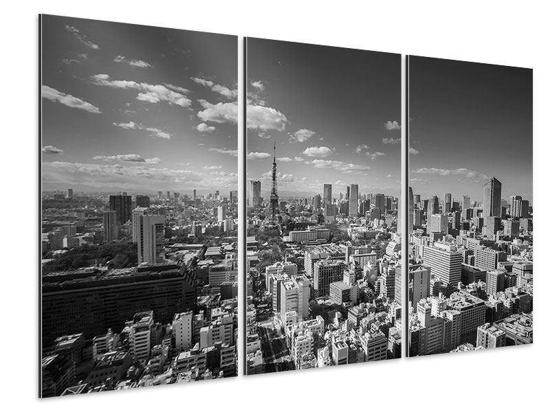 Aluminiumbild 3-teilig Tokio