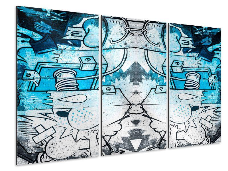 Aluminiumbild 3-teilig Graffiti