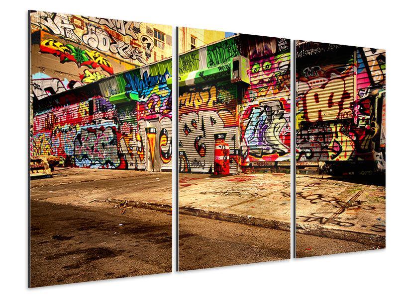 Aluminiumbild 3-teilig NY Graffiti