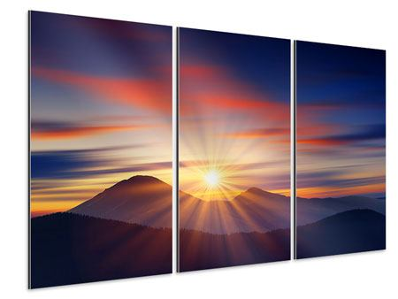 Aluminiumbild 3-teilig Märchenhafte Landschaft