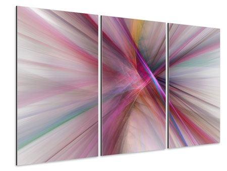 Aluminiumbild 3-teilig Abstraktes Lichterleuchten
