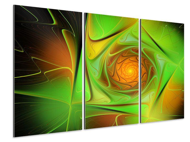 Aluminiumbild 3-teilig Abstraktionen