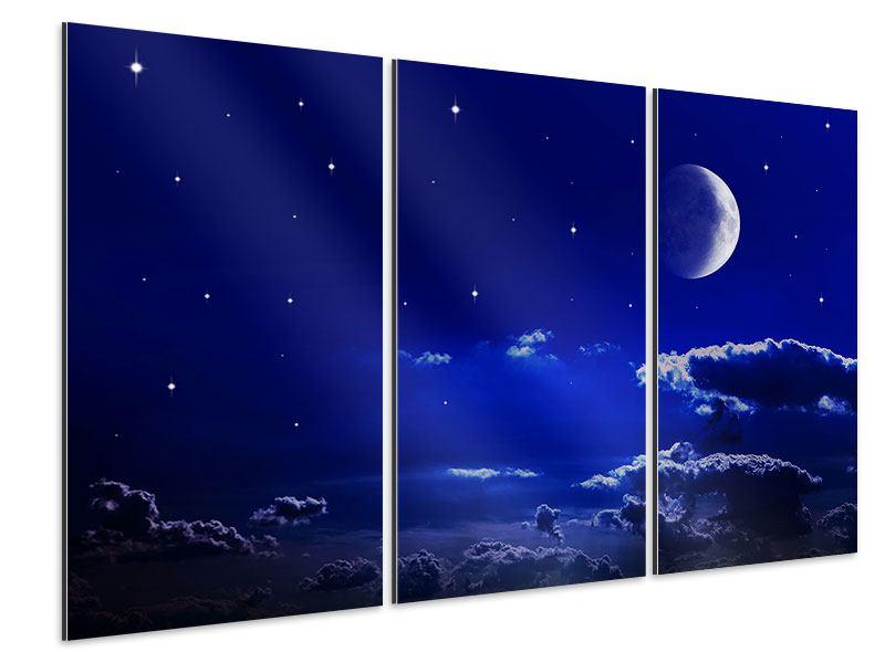 Aluminiumbild 3-teilig Der Nachthimmel