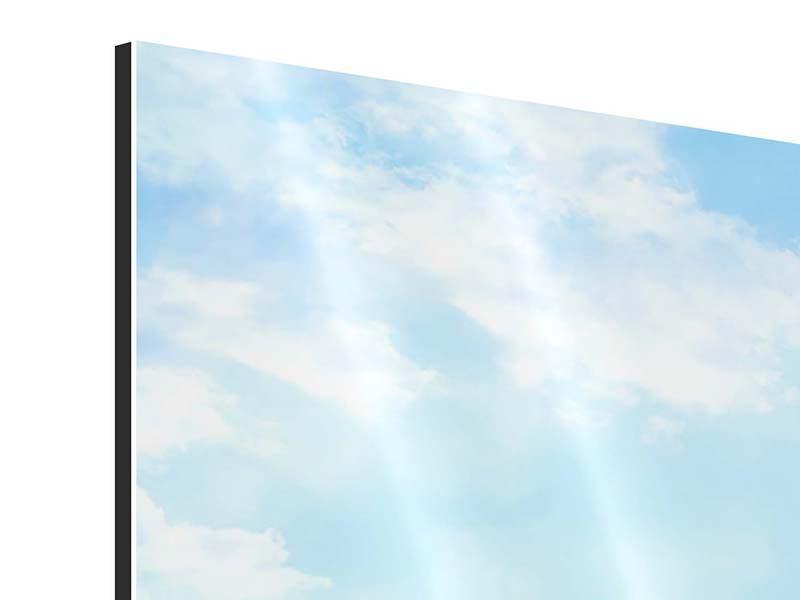 Aluminiumbild 3-teilig Schiffchen