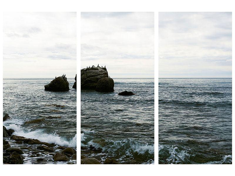 Aluminiumbild 3-teilig Leise Wellen
