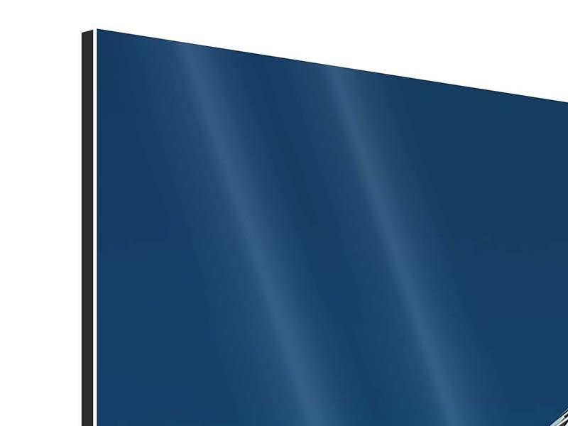 Aluminiumbild 3-teilig Meisterstück Wolkenkratzer